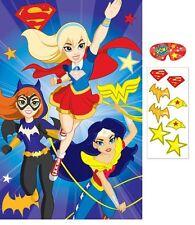 DC SUPER HERO GIRLS PARTY PIN GAME DECORATION SUPERHERO SUPERGIRL WONDER WOMAN