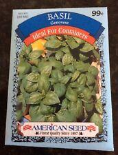 """Vegetable Seeds Gardening Planting """"Basil� Herb """"Sweet Italian� American Seeds"""