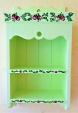 Display Storage Cabinet green Hand painted 52x27x13 cm