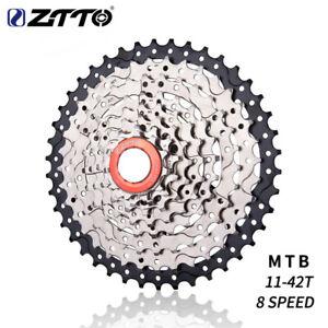 ZTTO Bicycle Steel 8 Speed Cassette 11-42T Cassette MTB Mountain Bike Flywheel