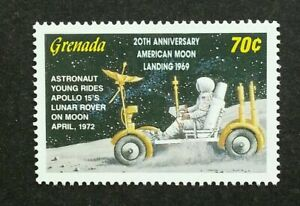 [SJ] Grenada Space 1972 Moon Landing Apollo Astronomy Astronaut (stamp) MNH