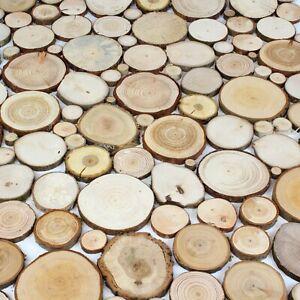 200 Holzscheiben Astscheibe Baumscheibe Deko Wanddekoration Floristik Ø 2-10 cm