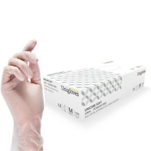 100x Disposable Vinyl Gloves Powder Latex Free Work Strong Food Safe