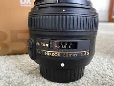 Nikon Nikkor AF-S DX 35 mm F/1.8G Lens w/HB-46 Lens Hood (Great Condition)