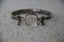 Georg Jensen Torun Rutilated Quartz Crystal Sterling Silver .925 Cuff Bracelet