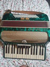 Akkordeon Scholer top Zustand aus einem Nachlass  perl grün