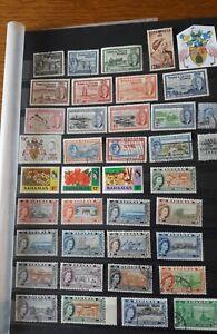 Brieffmarken Britische Kolonien Turks & Caicos Inseln und Bahamas Inseln.