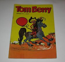 Very Rare & Vintage French Comic Book Tom Berry Western 1971  FREE SHIPPING