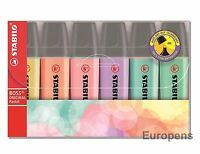STABILO BOSS PASTEL HIGHLIGHTER ORIGINAL Pens - Pack of 6 assorted colours
