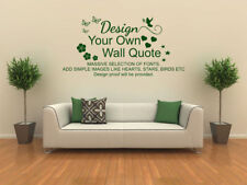 Design Your Own Wall Art Quote, Vinyl Transfer, Pvc Decal,