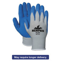 MCR SAFETY Memphis Flex Seamless Nylon Knit Gloves X-Large Blue/Gray Dozen