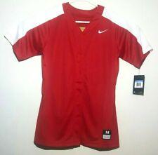 Nike Pro Vapor Softball Practice Jersey Full Button Women's Red - M