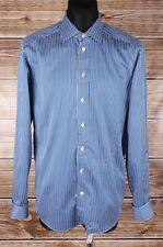 Eton contemporáneo francés Puños Camisa De Algodón De Hombre Talla 41 16, Original