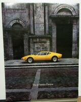 1972 Ford deTomaso Pantera Prestige Color Sales Brochure Original