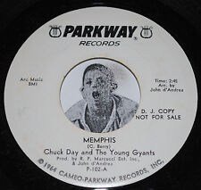 Northern Soul 45~CHUCK DAY & THE GYANTS~Memphis / It Hurts So Bad~Parkway PROMO