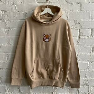 AF Kanye West New Dropout Bear Embroidered Sand Hooded Sweatshirt Hoodie Top