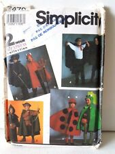 Simplicity Costume Pattern 7470 Kids Large Small Medium ladybug dracula dragon