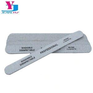 50Pcs NAIL FILES 180/240 Grey Nail Art Sanding Files Grit Buffer Buffing Acrylic