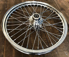 Harley Sportster 00-07 Chrome Front Wheel Rim Spoked Hub 21 x 2.15 Big Port