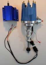 FORD Y Block 256-272-292-312 BLUE Small HEI Distributor & 50,000 volt BLUE Coil