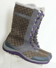Patagonia Wintertide Waterproof Quilted Grey Tall Winter Boots Women's US 10.5