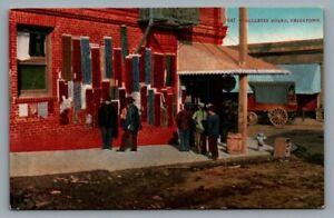 old postcard Bulletin Board, Chinatown (San Francisco, CA) street scene
