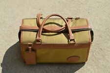RUNAWAYS BY BOYT LUGGAGE VINTAGE LEATHER CANVAS Bag Overnight Duffle weekender