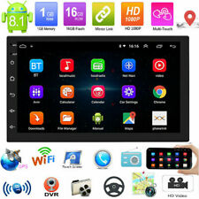 "Android8.1 GPS Navigation WiFi 7"" 2Din Quad Core Car Stereo MP5 Player FM Radio"