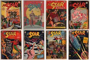 All-Star Comics 24, 27, 29, 30, 49, 50, 54, 55. FREE Fedex worldwide. JSA!