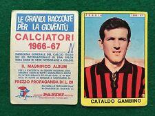 CALCIATORI 1966/67 66/1967 FOGGIA Cataldo GAMBINO Figurina Sticker Panini (NEW)b