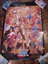 CAPCOM VS SNK Original Arcade Poster JAMMA ART Rare XBOX PS2 cps 2 dreamcast NOS