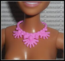 JEWELRY BARBIE DOLL FASHIONISTA CHIC IN CHAMBRAY PLASTIC PINK NECKLACE ACCESSORY