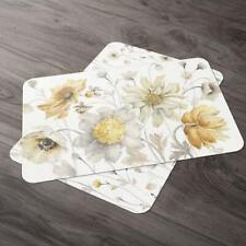 CounterArt Fields of Gold Reversible Plastic Placemat Set of 4 Made in the Usa