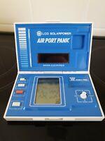 Rare Bandai Airport Panic Solar Power 1982 Vintage LCD Handheld Electronic Game.