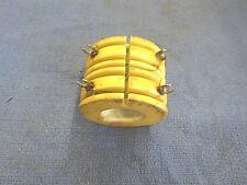 "M) Coil, RF coil, choke coil, 1.5 Mh, 180 Uh, ceramic coil form, 2"" OD X 1-1/2"""