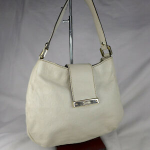 Authentic Rare Gucci Guccissima Cream GG Leather Small Hobo Shoulder Handbag