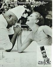 PUBLICITE ADVERTISING 115  1978  GUY LAROCHE  parfum EAU FOLLE