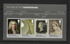 2011 GB. - THE AGE OF THE HANOVERIANS MINI SHEET - MINI AND NEVER HINGED.
