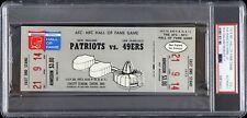 1973 49ers vs. Patriots NFL Hall of Fame Game Full Ticket (PSA/DNA Slabbed)