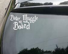 Gran Bebé muggle a bordo Lindo Harry Potter Funny coche decal sticker