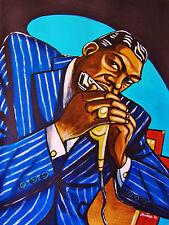 LITTLE WALTER PRINT poster blues harp harmonica rock bottom cd chicago bound art