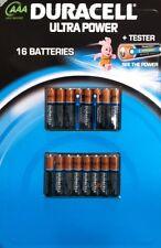 Duracell Ultra Power 16 AAA Batteries + Tester