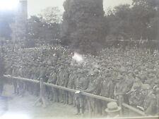 WW1 FRAMED PHOTO OF SOUTH AUSTRALIAN TROOPS / AUSTRALIAN INFANTRY FORCES