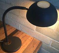 Vintage 50s 60s Metal Desk Lamp Diffuser Shade Mid Century Modern Atomic Era