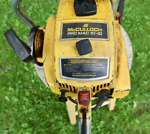 Vintage McCulloch Pro Mac 10-10 Chainsaw
