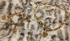 Juicy Couture Tbar Necklace And Tbar Bracelet With 4 Charms - Original