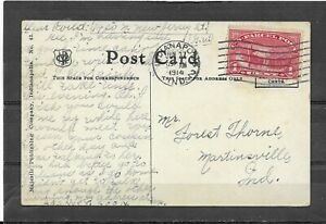 Antique1914 Divided Back Postcard of First Baptist Church, Indianapolis, IN