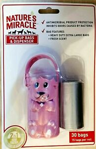 Pick Up Bags & Dispenser Fresh Scent 2 in 1 Odor Control Nature's Miracle 30 Bag