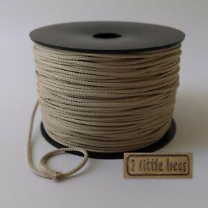 2mm Ivory Rope Drawstring Cord Dreamcatcher Round Tying Travel Crochet Craft