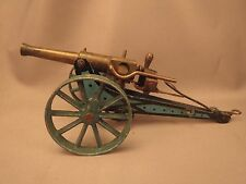 Marklin field cannon, 8042/1, steel carriage, brass barrel, complete breech